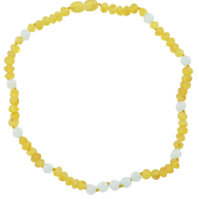 Load image into Gallery viewer, Teething necklace with Jadeite amberlila-shop.myshopify.com
