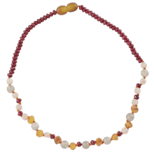 Load image into Gallery viewer, Teething necklace with agate sunstone amberlila-shop.myshopify.com