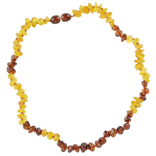 Teething necklace with chips beads amberlila-shop.myshopify.com