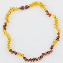 Load image into Gallery viewer, Teething necklace with chips beads amberlila-shop.myshopify.com