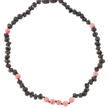 Load image into Gallery viewer, Teething necklace with coral beads amberlila-shop.myshopify.com