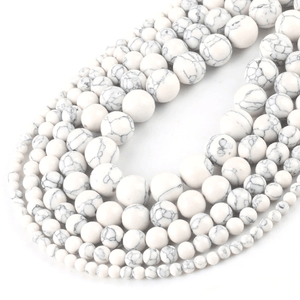 Howlite Beads for jewelry making amberlila-shop.myshopify.com