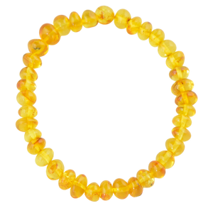 Yellow Genuine amber bracelet