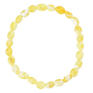 Yellow White Amber bracelet
