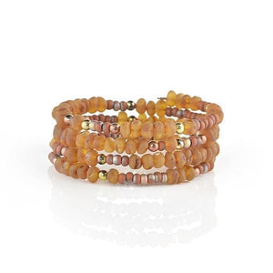 Raw Amber bracelet with Seed beads amberlila-shop.myshopify.com