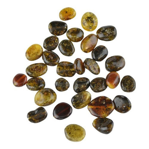 Green Baltic amber beads