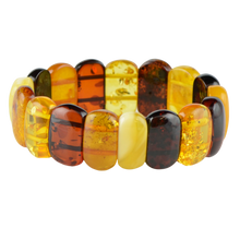 Load image into Gallery viewer, Multicolor Amber bracelet 1829