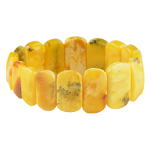 Load image into Gallery viewer, Genuine Yellow Amber bracelet 6277