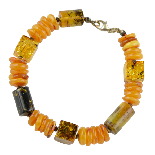 Men's gift idea - Amber bracelet FG08
