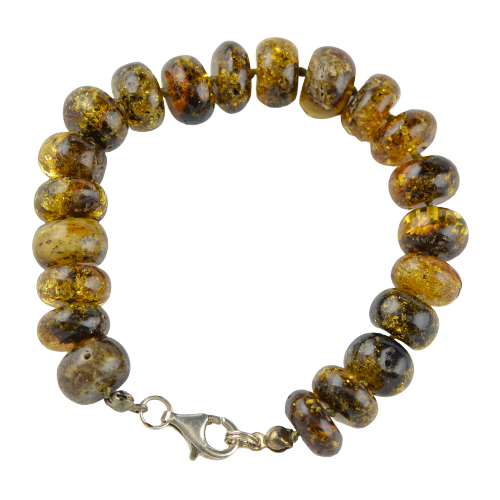 Baltic Amber bracelet with silver 925 TR32