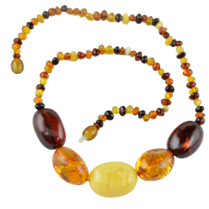Olive Baltic amber Necklace 5672/1