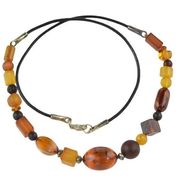 Charm amber necklace for women OP05