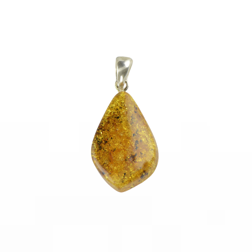 Polished Amber pendant Green piece