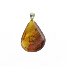 Load image into Gallery viewer, Amber pendant with silver 925