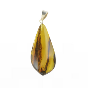 Baltic Amber pendant with sterling 925
