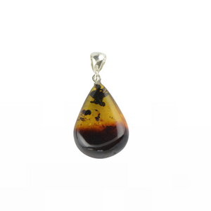Simple amber pendant Birthday gift