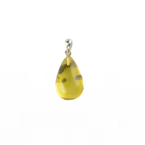 Simple amber pendant yellow color