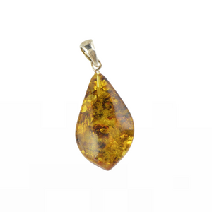 Simple amber pendant gemstone