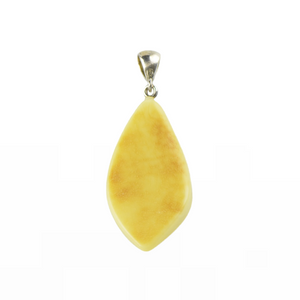Matt opaque Amber pendant natural color