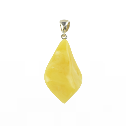 Opaque Natural Amber pendant