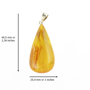 Yellow Baltic Amber pendant jewelry