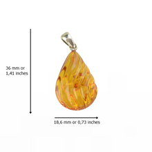 Load image into Gallery viewer, Light cognac Baltic Amber pendant jewelry