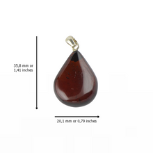 Load image into Gallery viewer, Polished cherry Amber pendant jewelry