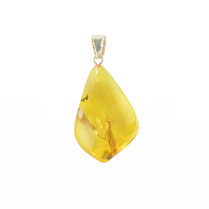 Yellow Drop Amber pendant For Her