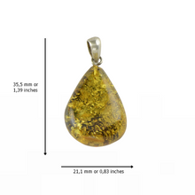 Load image into Gallery viewer, Green Amber pendant Handmade stone