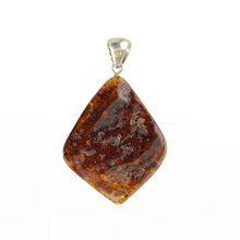 Load image into Gallery viewer, Large Amber pendant Handmade stone