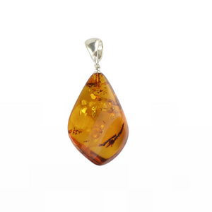Cognac Baltic Amber pendant Gift for Christmas