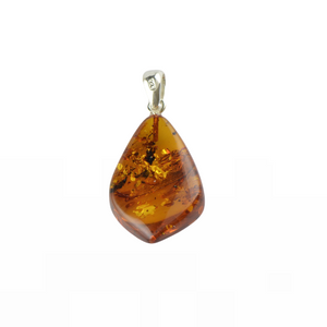 Cognac color Jewelry gift Amber pendant