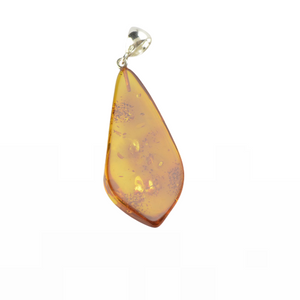 Jewelry gift Amber pendant with silver