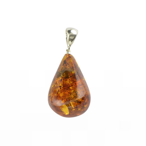 Jewelry gift Amber pendant cognac color