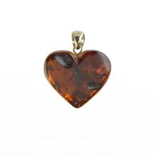 Load image into Gallery viewer, Green Heart Baltic Amber pendant