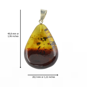 Two colors Amber pendant
