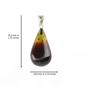 Baltic Amber pendant two color stone
