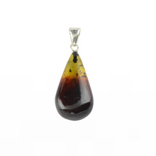 Load image into Gallery viewer, Baltic Amber pendant two color stone