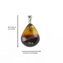 Load image into Gallery viewer, Amber pendant natural two colors