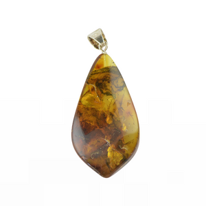 Drop large Amber pendant for women