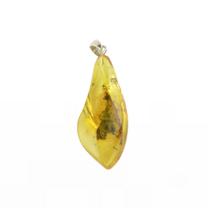 Amber pendant yellow color