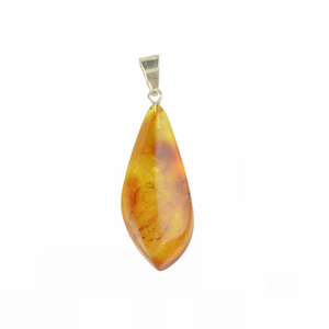 Amber pendant with natural amber stone