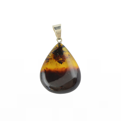Amber pendant with 2 colors
