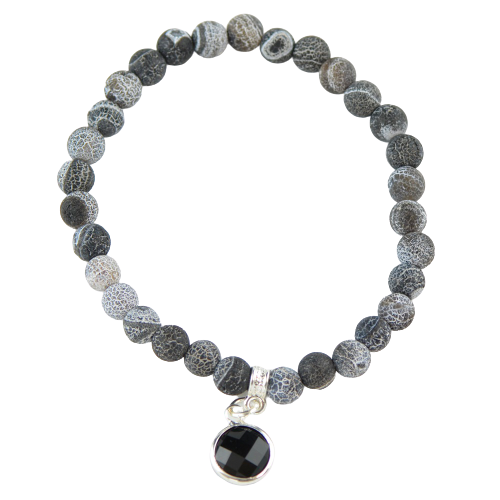 Agate bracelet with pendant