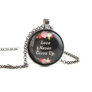 Inspiration quotes necklace HST41