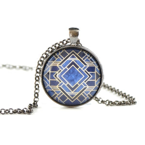 Glass dome geometric necklace HST51