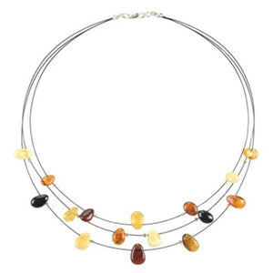 Necklace with Amber amberlila-shop.myshopify.com