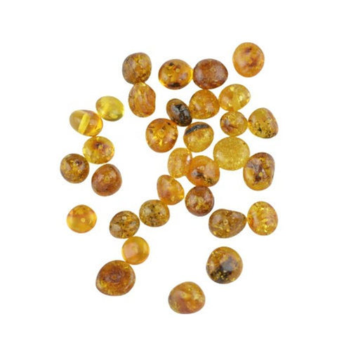 Oval Baltic amber beads 6 to 8mm