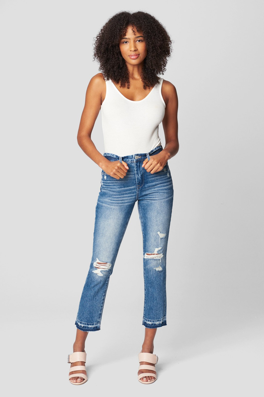 Out Of Town Madison Crop Jean | Blank NYC