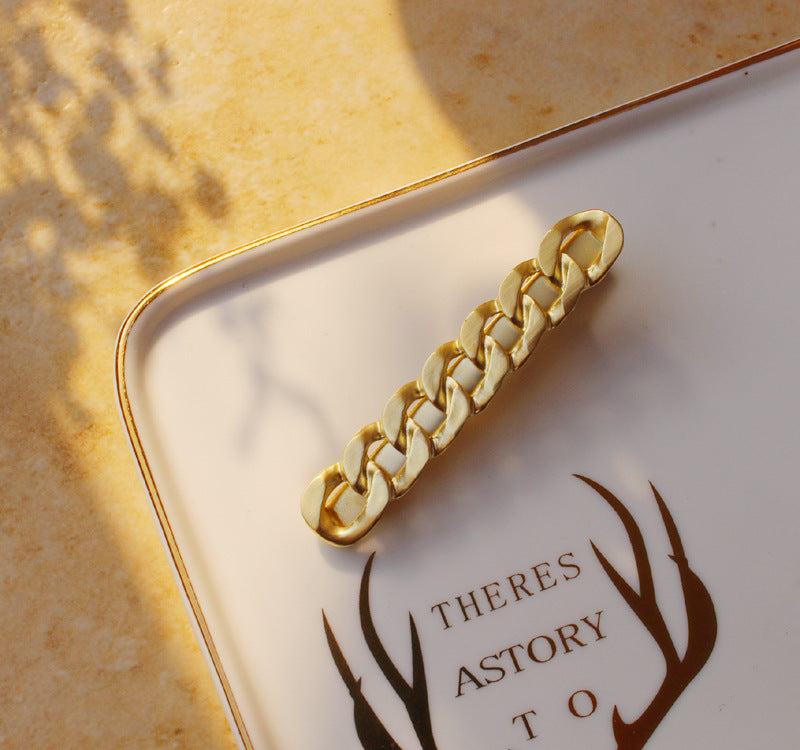 Gold Plated Designer Hair Clip